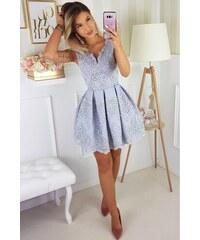 Bicotone Krajkové šaty Princess Šedé f760351e2c