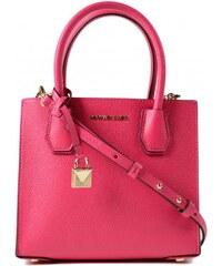 Michael Kors Benning large scalloped leather satchel soft pink ... f219c9aa3d1