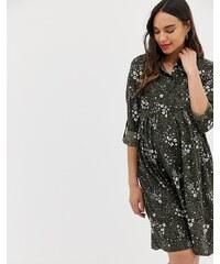 1ba298aaeef New Look Maternity shirt dress in green pattern - Green pattern