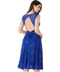 Krajkové plesové společenské šaty modré 1fb8e6fb6a