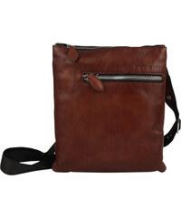 44bd39542 Luxusná pánska kožená taška cez rameno hnedá - Hexagona Eriq hnedá ...