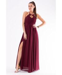 Perfect Luxusní plesové šaty bez rukávu s výstřihem zdobený krajkou 57a920e988