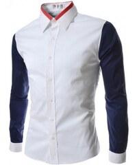 Pánská košile Slim Fit Taulo bílá - bílá