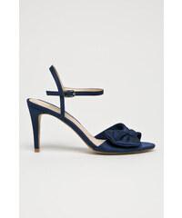a08d961d401 Tmavo modré Dámske topánky na podpätku