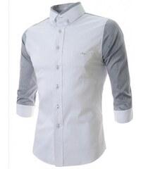 Pánská košile Slim Fit Ben bílá - bílá