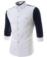 Pánská košile Slim Fit Ben modrá - modrá