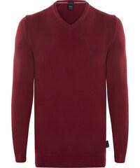 2b6d14b881ec Bordový elegantný sveter od Hugo Boss