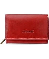 c8800f68c8368 Klasická dámská kožená peněženka lorenti s mnoho kapsami - červená