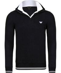 Černý luxusní svetr na zip od Emporio Armani 49ec794d1b