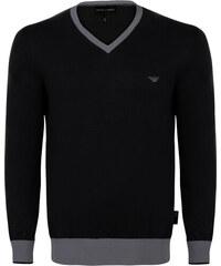 031bbe4f38a4 Černo-šedý elegantní svetr od Emporio Armani