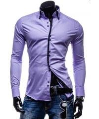 Pánská košile Slim Fit Ultra fialová AKCE - fialová