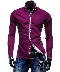 Pánská košile Slim Fit Ultra purpurová AKCE - purpurová