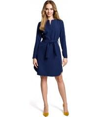 Moe Dámské denní šaty Moe 112108 modré - modrá e640861ef22