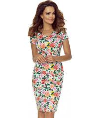 a142cbaab3e Bergamo Zelené květované šaty M56467