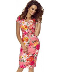 336e1b66ff2 Bergamo Růžové květované šaty M56961
