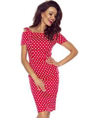 Bergamo Červené bodkované šaty M54825 086d83a8d75