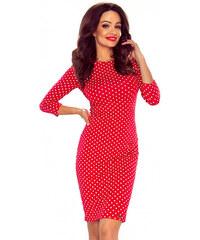 Bergamo Červené bodkované šaty M55980 a366c48fbed