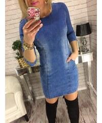 Style Fashion Džínové šaty s kapsičkama b36d11fdd2