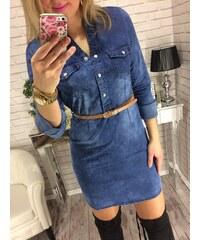 Style Fashion Džínové šaty LuxJeans 580f651daa