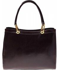 Kožená kabelka aktovka A4 Genuine Leather černá - Glami.cz 261472b6ab6