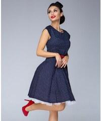GOTTA Dámské šaty Polka mini puntík modré dc193309ab