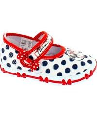 c3cfe3290d51 Disney by Arnetta Dievčenské papučky Minnie - biele
