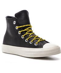 Converse Dámské černé vysoké kožené tenisky Chuck Taylor All Star ... f70d70179a