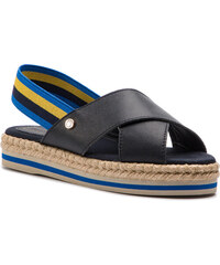 8cabce80ab51 Espadrilky TOMMY HILFIGER - Colorful Rope Flat Sandal FW0FW04060 Midnight  403