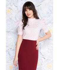 93e706199b Világos rózsaszín StarShinerS irodai női blúz nem elasztikus pamut bő  szabású