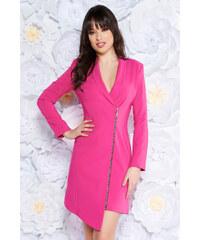 f927f854d6 Pink StarShinerS elegáns zakó tipusú ruha rugalmatlan szövet belső béléssel  hosszú ujjak