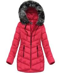 The SHE Červená zimná dámska bunda s kapucňou 0acc8720c00