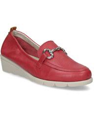 68dc3999386 Comfit Dámské kožené mokasíny červené