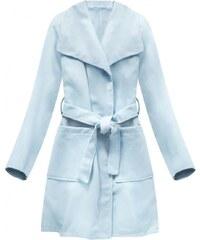The SHE Modrý kabát s velkým límcem a1ef9dc4d7