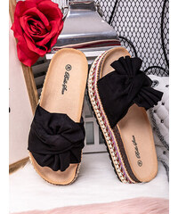 MODANOEMI Korkové černé pantofle Bello Star S62C e60ac86ac2