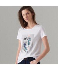 Mohito - Tričko s květinovou výšivkou - Bílá bf1897115a