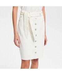 e16d21d6ba42 Reserved - Bílá džínová sukně - Krémová