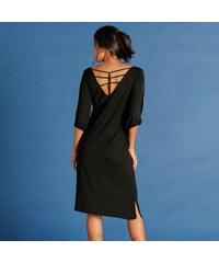 Blancheporte Úpletové šaty černá 7f56c9f562