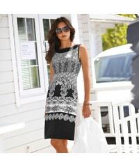817fb6369857 Blancheporte Krátke šaty s potlačou na spodnom leme čierna biela