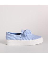 Sinsay - Pásikavé tenisky - Modrá 4ec5a39fe2b