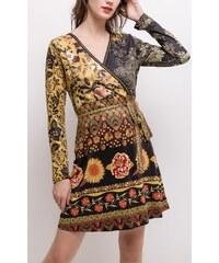 Dámské šaty 101 IDÉES hnědé N03228 6d1cf553f9