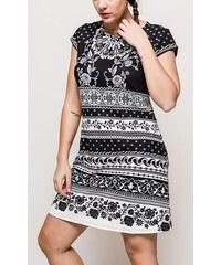 Dámské šaty 101 Idées černo-bílé GA2303 bf663f3495