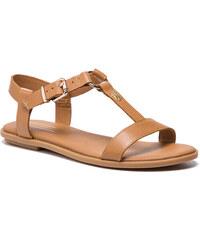 Szandál TOMMY HILFIGER - Elevated Leather Flat Sandal FW0FW03946 Summer  Cognac 929 d2bcd6e1f2