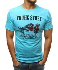 Kék póló felirattal és cipő ábrával 3f828c9f89