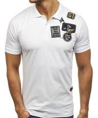2581a54805 Férfi ingpóló fehér színben a Bolftól K6010