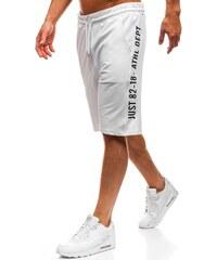 Bílé pánské teplákové kraťasy Bolf 2004 03f4ef517a