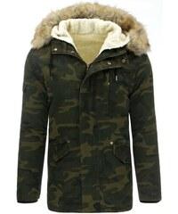 Manstyle Pánská parka (zimní bunda) - maskáčová 35117a513a0