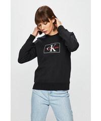 ae9398ea6a0 Černá dámská mikina s potiskem ve stříbrné barvě Calvin Klein Jeans ...