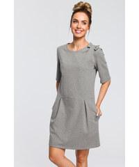 be85e735357c MOE Sivé šaty M422. Nové