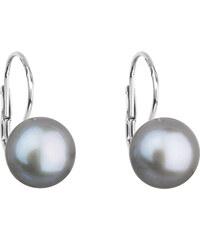 EVOLUTION GROUP Strieborné náušnice visiace so šedou riečnou perlou 21009.3 d6f75a88d94