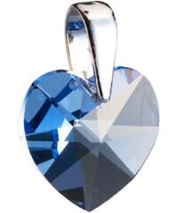 3f0cdb712 EVOLUTION GROUP Strieborný prívesok s krištáľmi Swarovski modré srdce  34002.3